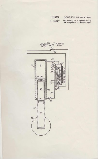 Dowty Rotol Patent - Helicopter Landing Gear | Original photo in the Dowty archive at the Gloucestershire Heritage Hub