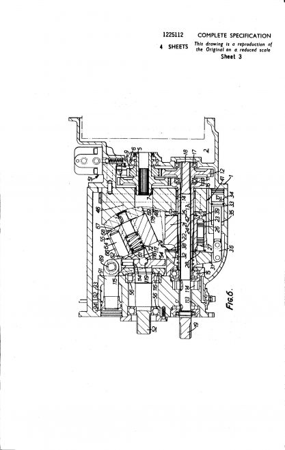Dowty Hydraulic Units Patent - Hydraulic Power Transmission | Original photo in the Dowty archive at the Gloucestershire Heritage Hub