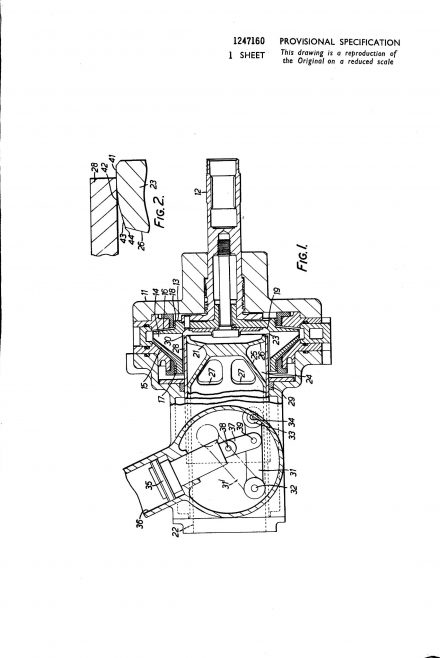 Dowty Fuel Systems Patent - Fluid Metering Device | Original photo in the Dowty archive at the Gloucestershire Heritage Hub