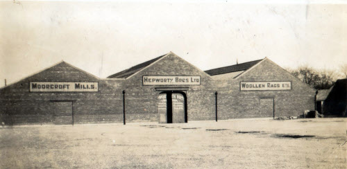 The Kingsway entrance to Hepworth Brothers, Moorcroft Mill in 1936. | www.ossett.net/ossett_mills