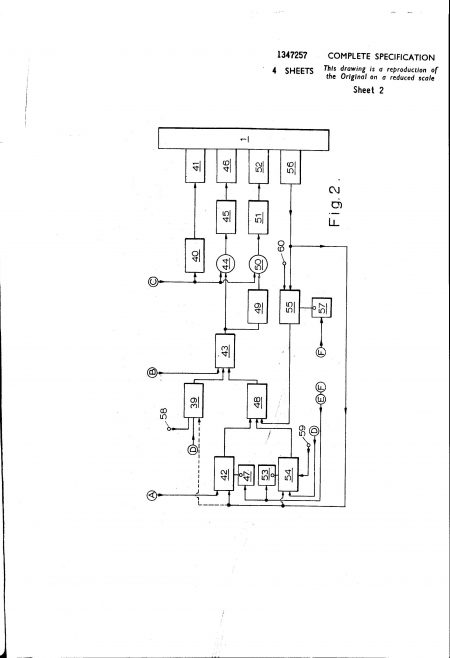 Ultra Electronic Controls Patent Specification 1970 - Improvements in or Relating to Turbine Engine Control Systems | Original photo in the Dowty archive at the Gloucestershire Heritage Hub