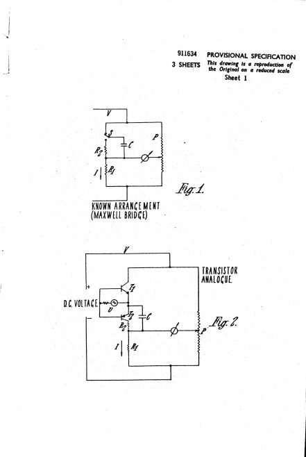 Ultra Electronics Patent Specification 1961 - Frequency Detectors | Original photo in the Dowty archive at the Gloucestershire Heritage Hub