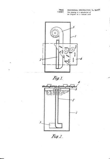 Ultra Electric Patent Specification 1955 - Improvements in and Relating to a Method and Apparatus for Soldering Printed Circuits | Original photo in the Dowty archive at the Gloucestershire Heritage Hub