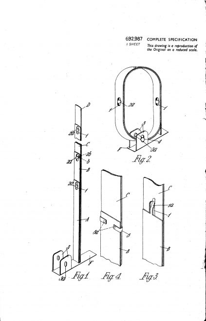 Ultra Electric Patent Specification 1953 - Improvements in and Relating to Collapsible Aerials | Original photo in the Dowty archive at the Gloucestershire Heritage Hub