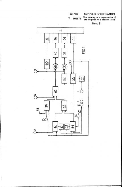 Ultra Electronics Patent Specification 1970 - Improvements in and Relating to Turbine Engine Control Systems | Original photo in the Dowty archive at the Gloucestershire Heritage Hub