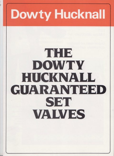 The Dowty Hucknall Guaranteed Set Valves | Original photo in the Dowty archive at the Gloucestershire Heritage Hub