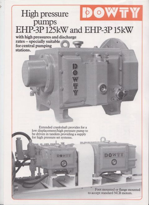 High Pressure Pumps EHP-3P 125kW and EHP-3P 15kW | Original photo in the Dowty archive at the Gloucestershire Heritage Hub