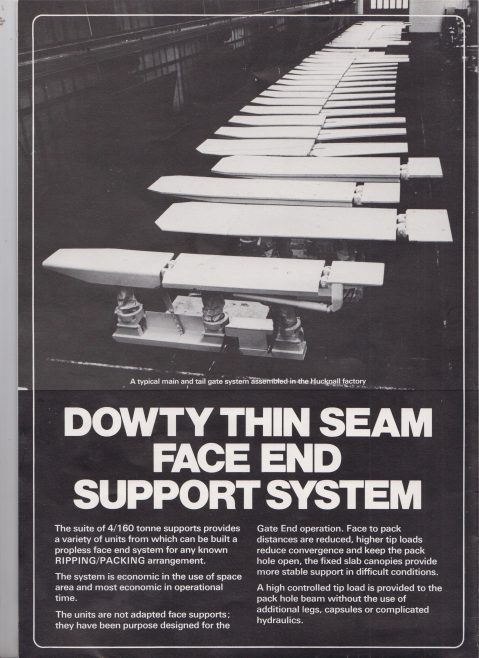 Dowty Thin Seam Face End Support System | Original photo in the Dowty archive at the Gloucestershire Heritage Hub