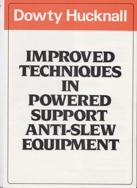 Improved Techniques in Powered Support Anti-Slew Equipment | Original photo in the Dowty archive at the Gloucestershire Heritage Hub