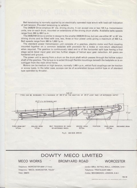 Dowty Meco - 240B & 240B/HM Belt Conveyor Drive Heads | Original photo in the Dowty archive at the Gloucestershire Heritage Hub