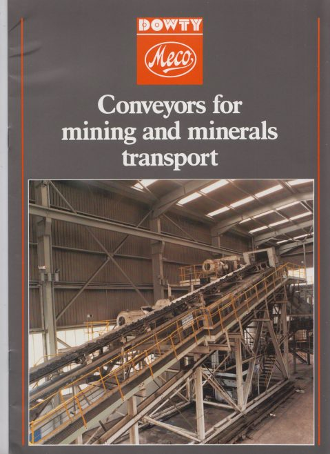Dowty Meco - Conveyors for Mining and Minerals Transport | Original photo in the Dowty archive at the Gloucestershire Heritage Hub
