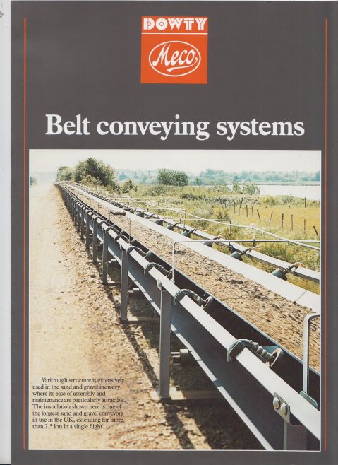 Dowty Meco - Belt Conveying Systems | Original photo in the Dowty archive at the Gloucestershire Heritage Hub