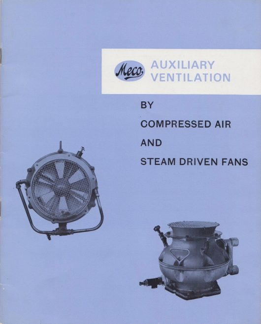 Dowty Meco - Auxiliary Ventilation by Compressed Air and Steam Driven Fans | Original photo in the Dowty archive at the Gloucestershire Heritage Hub