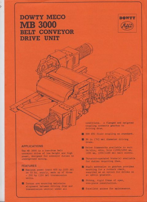 Dowty Meco - MB 3000 Belt Conveyor Drive Unit | Original photo in the Dowty archive at the Gloucestershire Heritage Hub
