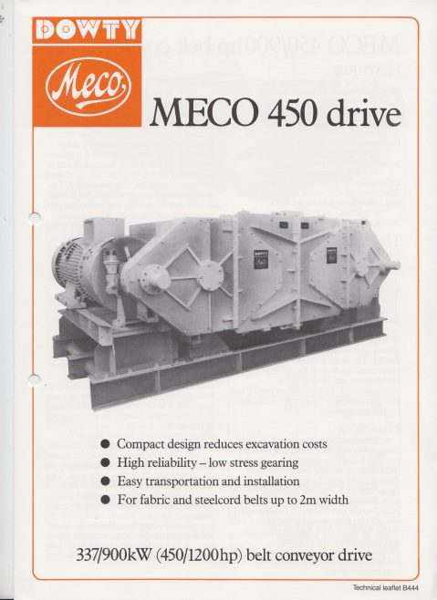 Dowty Meco - Meco 450/900hp Belt Conveyor Drive | Original photo in the Dowty archive at the Gloucestershire Heritage Hub