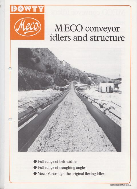 Dowty Meco - Meco Belt Conveyor Idlers and Structure | Original photo in the Dowty archive at the Gloucestershire Heritage Hub