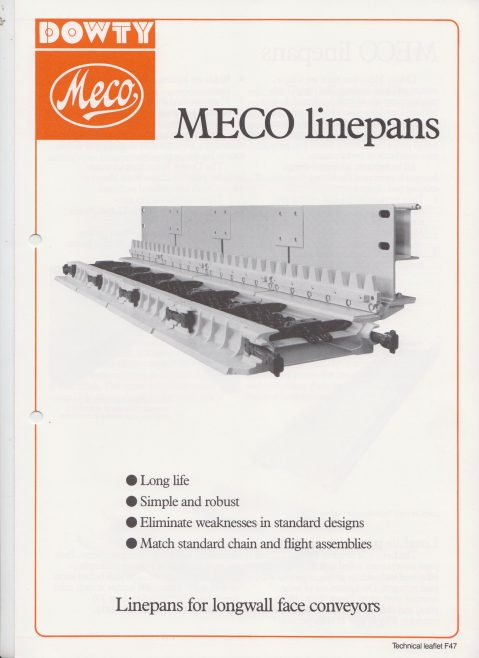 Dowty Meco - Linepans for Longwall Face Conveyors | Original photo in the Dowty archive at the Gloucestershire Heritage Hub