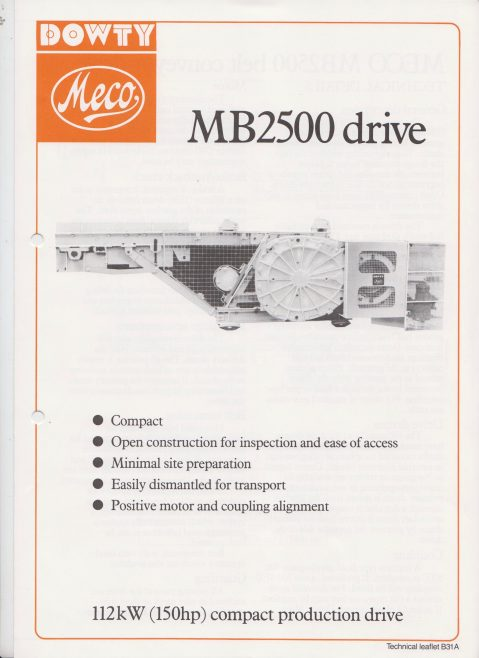 Dowty Meco - MB2500 Belt Conveyor Drive | Original photo in the Dowty archive at the Gloucestershire Heritage Hub