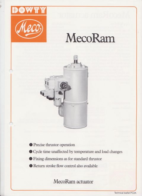 Dowty Meco - Meco Ram Actuator | Original photo in the Dowty archive at the Gloucestershire Heritage Hub