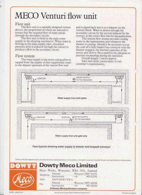 Dowty Meco - Venturi Flow Unit | Original photo in the Dowty archive at the Gloucestershire Heritage Hub