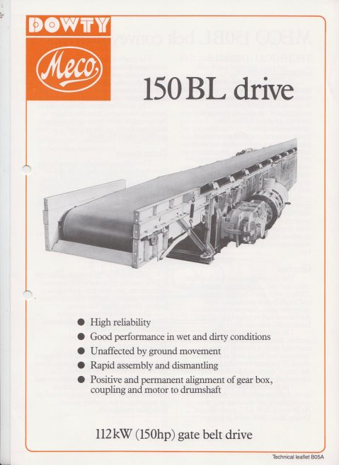 Dowty Meco - 150BL Gate Belt Drive | Original photo in the Dowty archive at the Gloucestershire Heritage Hub