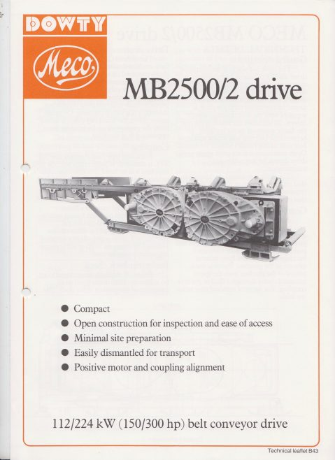 Dowty Meco - MB2500/2 Belt Conveyor Drive | Original photo in the Dowty archive at the Gloucestershire Heritage Hub