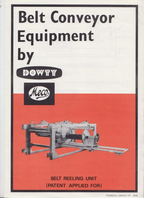 Dowty Meco - Belt Reeling Unit | Original photo in the Dowty archive at the Gloucestershire Heritage Hub