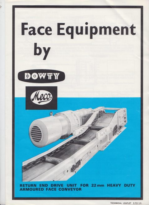 Dowty Meco - Return End Drive Unit for Heavy Duty Armoured Face Conveyor | Original photo in the Dowty archive at the Gloucestershire Heritage Hub