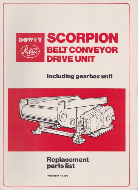 Dowty Meco - Scorpion Belt Conveyor Drive Unit | Original photo in the Dowty archive at the Gloucestershire Heritage Hub