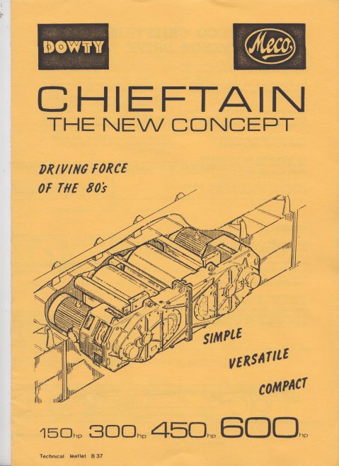 Dowty Meco - Chieftain Belt Conveyor Drive | Original photo in the Dowty archive at the Gloucestershire Heritage Hub