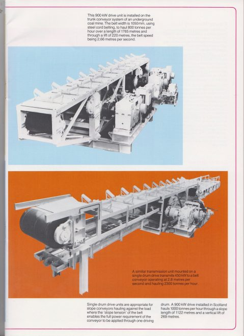 Conveyors  for Mining and Bulk Minerals Transport | Original photo in the Dowty archive at the Gloucestershire Heritage Hub