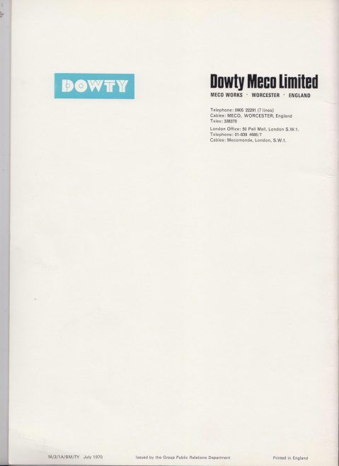 Dowty Meco 240B Belt Conveyor Drives | Original photo in the Dowty archive at the Gloucestershire Heritage Hub
