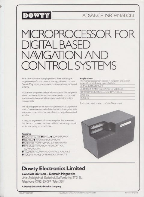 Dowty Electronics - Microprocessor for Digital Based Navigation and Control Systems | Original photo in the Dowty archive at the Gloucestershire Heritage Hub
