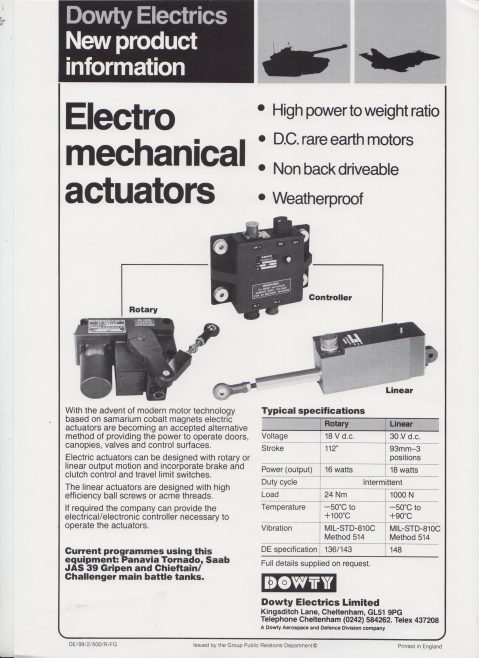 Dowty Electrics Ltd - New Product Information | Original photo in the Dowty archive at the Gloucestershire Heritage Hub
