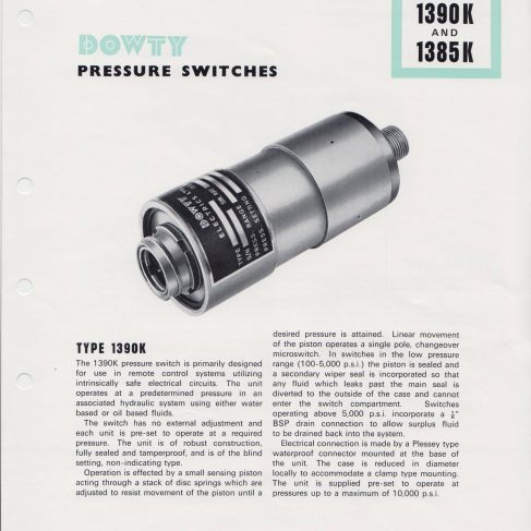 Dowty Electrics Ltd - Pressure Switches | Original photo in the Dowty archive at the Gloucestershire Heritage Hub