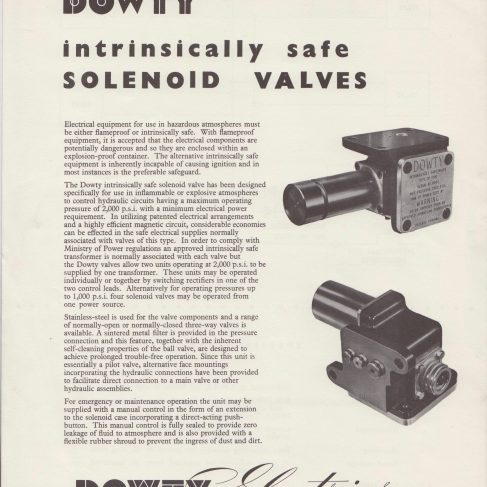 Dowty Electrics - Intrinsically Safe Solenoid Valves | Original photo in the Dowty archive at the Gloucestershire Heritage Hub