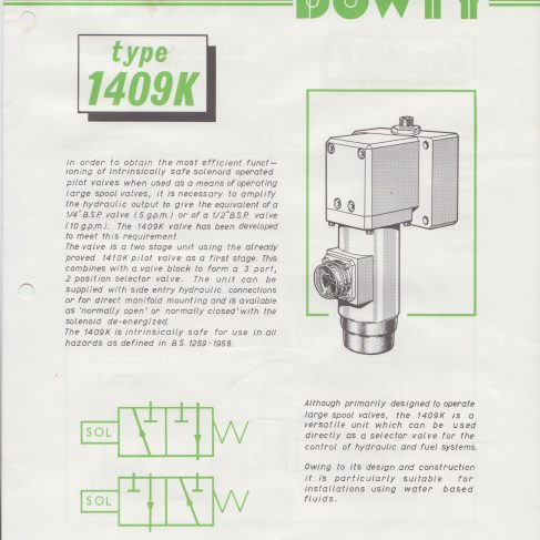 Dowty Electrics - Type 1409K Intrinsically Safe Solenoid Valve | Original photo in the Dowty archive at the Gloucestershire Heritage Hub