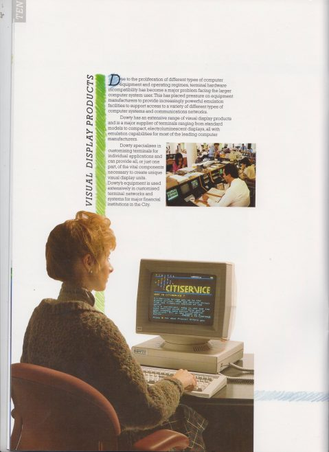 Dowty Information Systems - At the Leading Edge of Information Systems Technology | Original photo in the Dowty archive at the Gloucestershire Heritage Hub