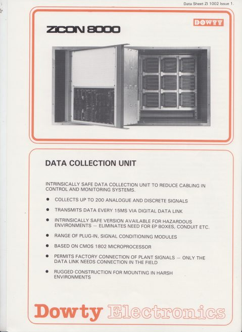 Dowty Electronics - ZiCon 8000 Data Collection Unit | Original photo in the Dowty archive at the Gloucestershire Heritage Hub