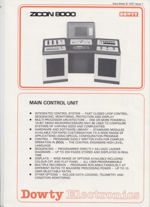 Dowty Electronics - ZiCon 8000 Main Control Unit | Original photo in the Dowty archive at the Gloucestershire Heritage Hub