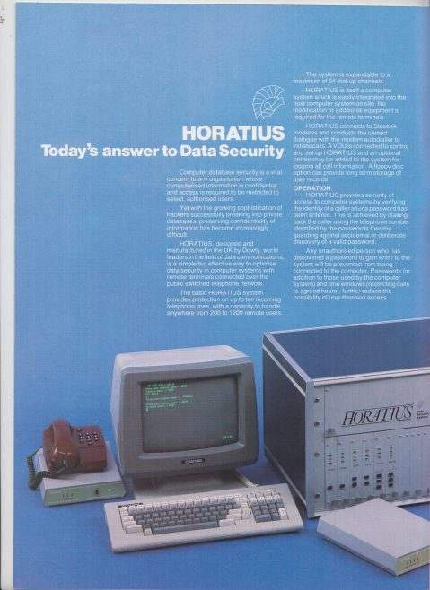 Dowty Steebek Systems - Horatius  Data Security Systems | Original photo in the Dowty archive at the Gloucestershire Heritage Hub
