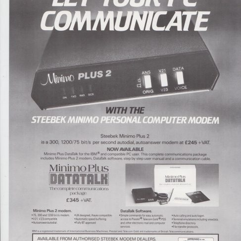 Dowty Steebek Systems - Minimo Personal Computer Modem | Original photo in the Dowty archive at the Gloucestershire Heritage Hub
