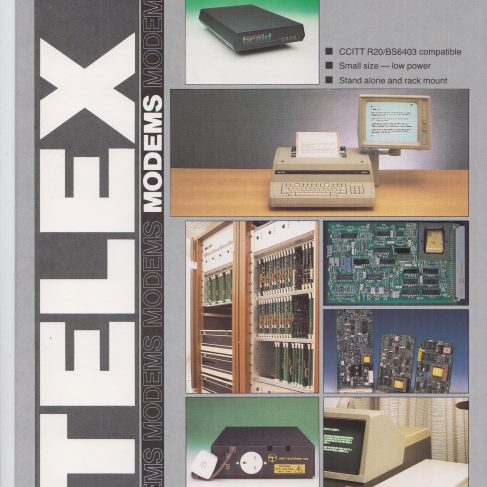 Dowty Steebek Systems - Telex Modems | Original photo in the Dowty archive at the Gloucestershire Heritage Hub