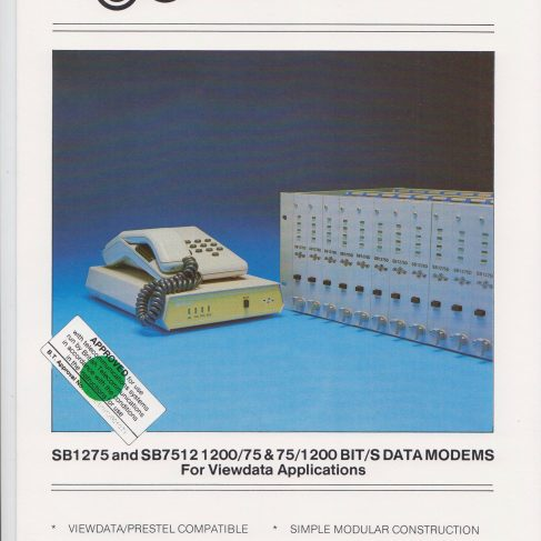 Dowty Steebek Systems - SB1275 and SB7512 Data Modems | Original photo in the Dowty archive at the Gloucestershire Heritage Hub
