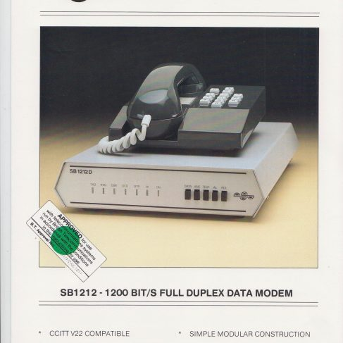 Dowty Steebek Systems - SB1212 Full Duplex Data Modem | Original photo in the Dowty archive at the Gloucestershire Heritage Hub