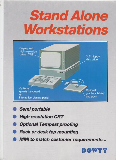 Dowty Maritime Systems - Stand Alone Workstations | Original photo in the Dowty archive at the Gloucestershire Heritage Hub