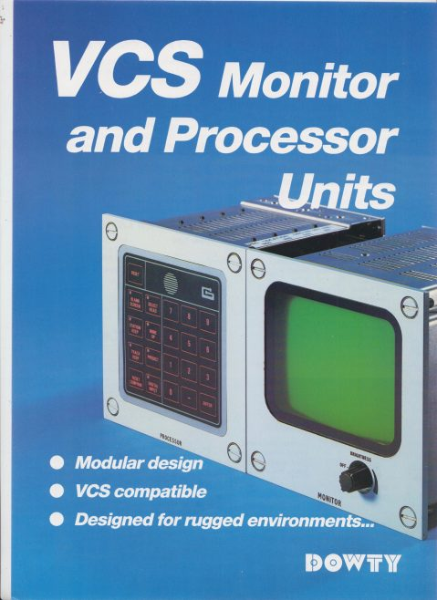 Dowty Maritime Systems - VCS Monitor and Processor Units | Original photo in the Dowty archive at the Gloucestershire Heritage Hub