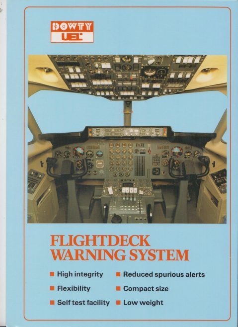 Ultra Electronics Controls Ltd - Flightdeck Warning System | Original photo in the Dowty archive at the Gloucestershire Heritage Hub