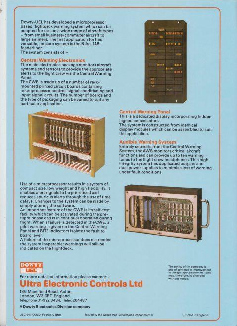 Ultra Electronics Controls Ltd - Flightdeck Warning System