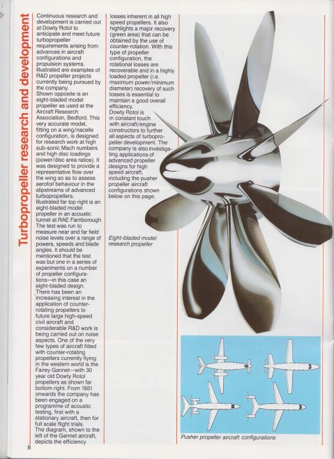 Dowty Rotol - Turbopropeller Technology | Original photo in the Dowty archive at the Gloucestershire Heritage Hub